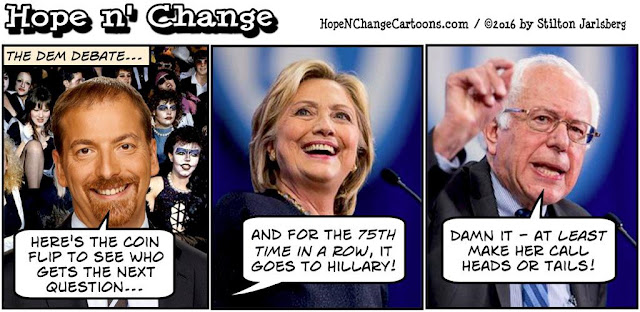 obama, obama jokes, political, humor, cartoon, conservative, hope n' change, hope and change, stilton jarlsberg, sanders, clinton, debate