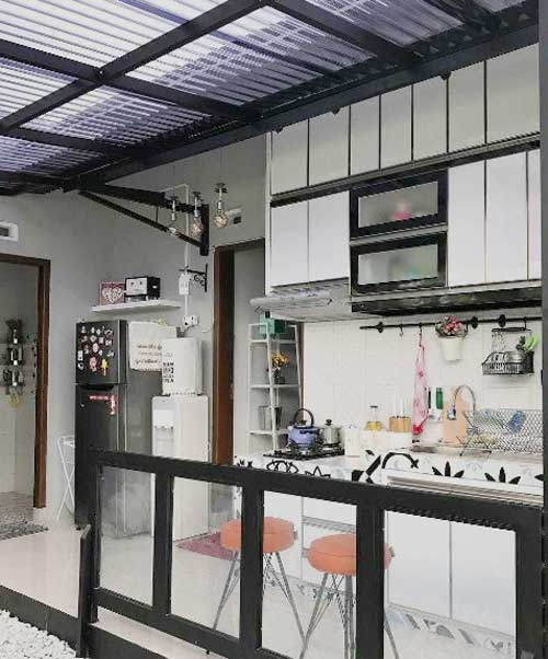 kanopi untuk dapur terbuka