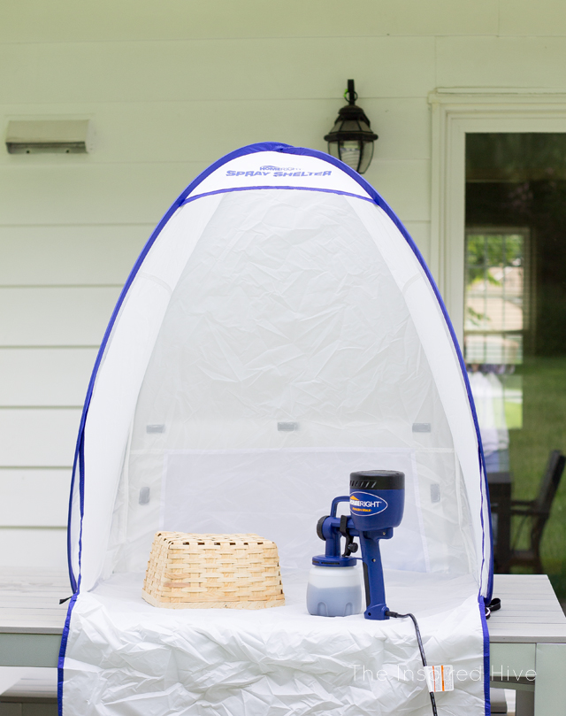 This tabletop spray shelter is so cool! Spray paint your projects with no mess or overspray! Every DIYer needs one!
