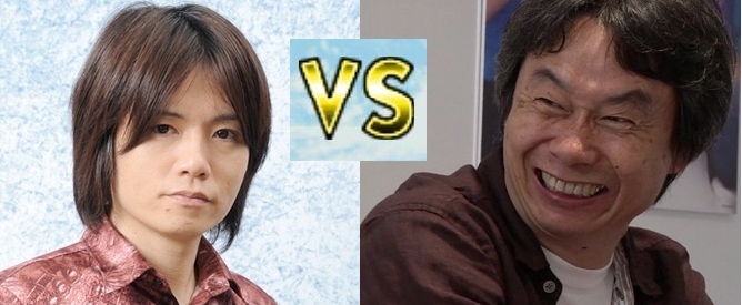 Masahiro Sakurai and Shigeru Miyamoto smash it out versus Nintendo developers