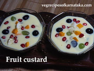 Fruit custard or fruit salad recipe in Kannada