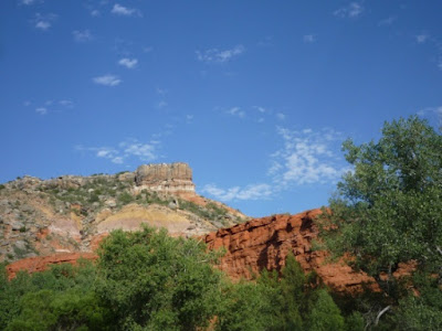 Uniformitarian geology cannot explain features in the Palo Duro Canyon.
