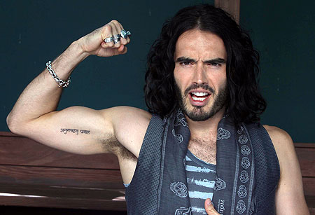 russell brand tattoos info. Black Bedroom Furniture Sets. Home Design Ideas