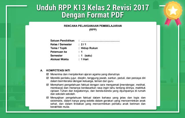 File Pendidikan Unduh RPP K13 Kelas 2 Revisi 2017 Dengan Format PDF