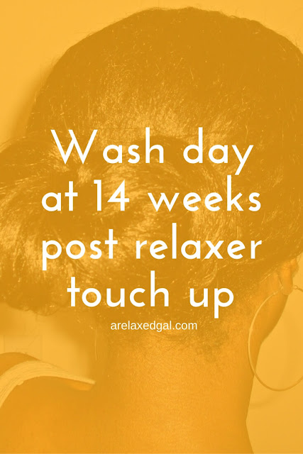 My relaxer stretch continues. Read about my wash day at 14 weeks post. | arelaxedgal.com