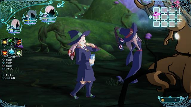 Little Witch Academia presenta a sus personajes jugables en un nuevo vídeo