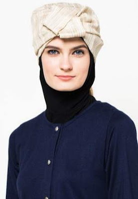 Desain hijab turban modern model baru image