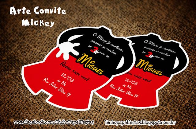 Convite corpo Mickey
