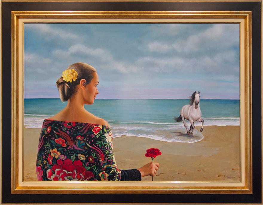 Mujer con mantón de manila. Turismo español II de JCarrero