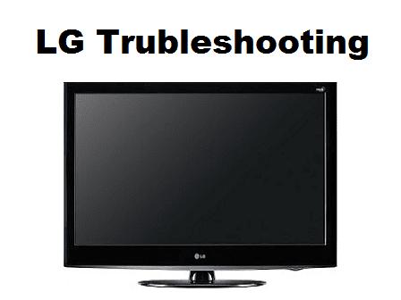Kerusakan umum TV LG