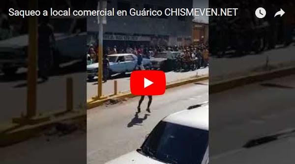 Saquearon local de venta de comida de unos chinos en Guárico