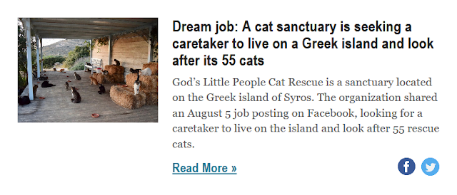 https://www.businessinsider.com/cat-sanctuary-needs-caretaker-for-55-cats-on-a-greek-island-2018-8?nr_email_referer=1&utm_source=Sailthru&utm_medium=email&utm_content=BISelect&pt=385758&ct=Sailthru_BI_Newsletters&mt=8&utm_campaign=BI%20Select%20Weekend%202018-08-11&utm_term=Business%20Insider%20Select