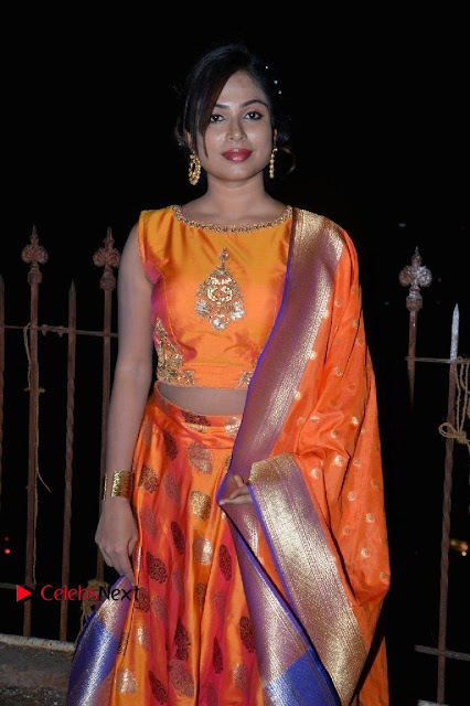 Telugu Actress Vrushali Goswamy Latest Stills in Lehnga Choli at Neelimalay Audio Function  0013.jpg