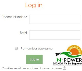 Login Npower Test Portal