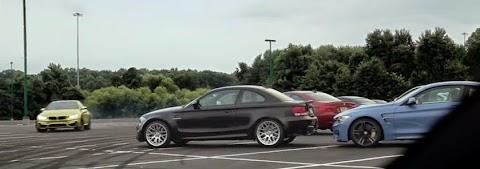 Video: BMW M4 races through M-History