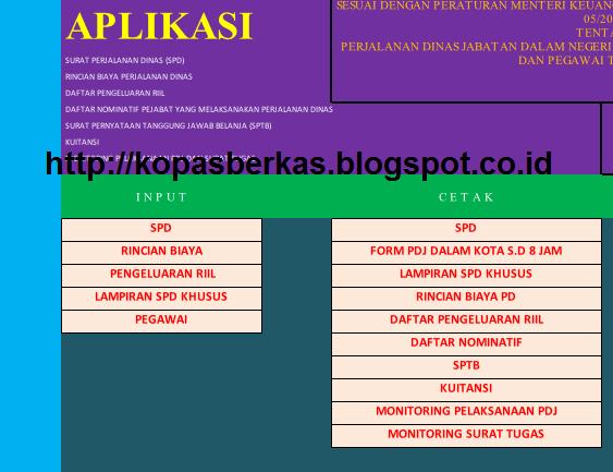 Aplikasi Lengkap Spj Bos Sppd Dan Kwitansi Otomatsis