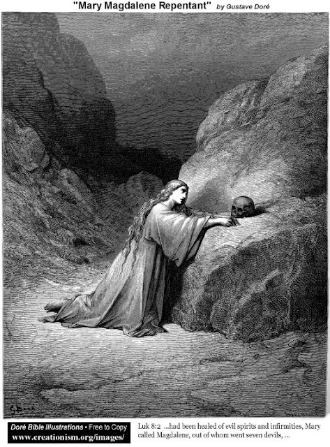 Mary Magdalene Repentant - Gustave Dore