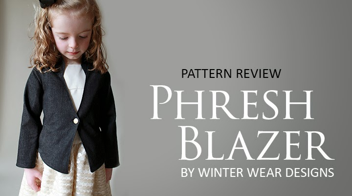 Pattern Reveiw: Phresh Blazer -- sewn in black denim | The Inspired Wren
