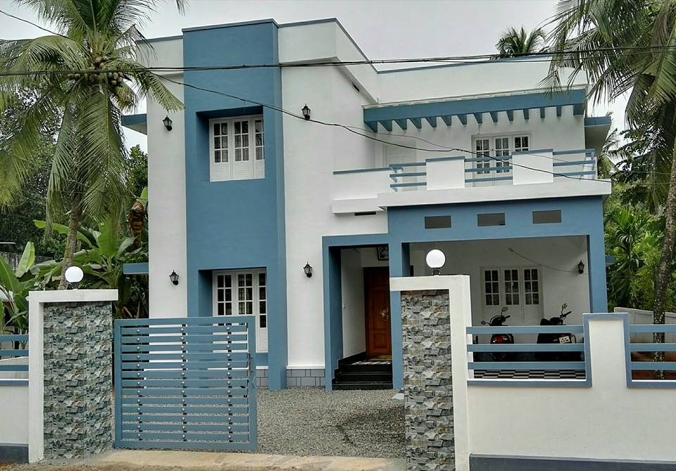4 Bedroom Contemporary Home in 2100Sqft for 30 Lakhs with Free Plan - Free Kerala Home Plans