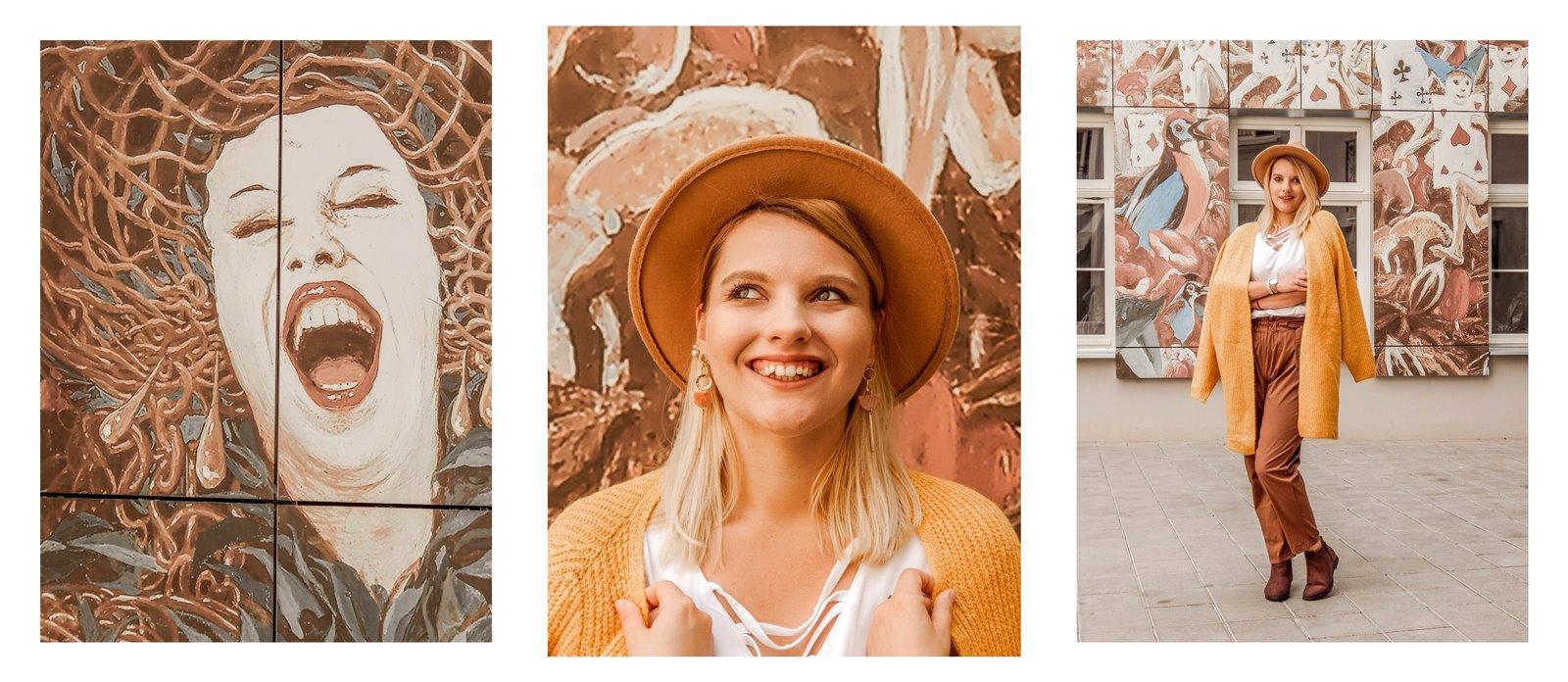 10 łódź podwórko artystyczne przy ul. Więckowskiego 4 murale łódzkie graffiti artystyczne podwórka miejsca które warto zobaczyć instafriendly miejsca w łodzi na sesje zdjęciowe dla blogerów ładne piękne kolorowe