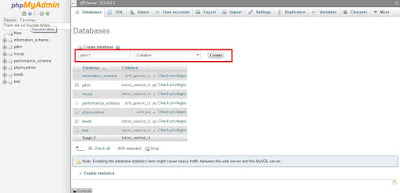 Membuat database mysql