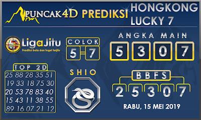 PREDIKSI TOGEL HONGKONG LUCKY7 PUNCAK4D 15 MEI 2019