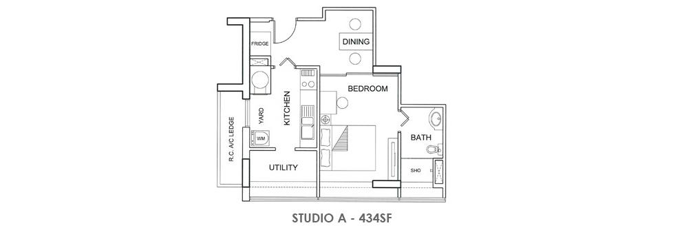 Fortville Studio A Floorplan