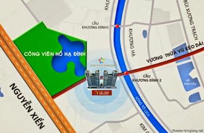 Vị trí đắc địa chung cư Five Star Kim Giang
