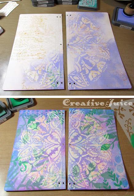 Butterfly Journal by Lisa Hoel with StencilGirl® Stencils