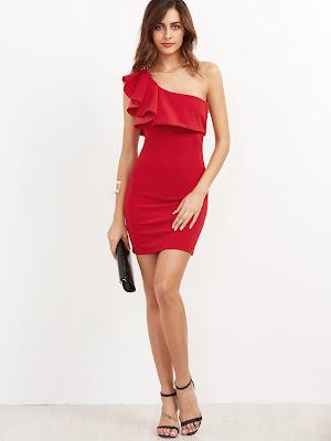 vestidos rojos de fiesta cortos