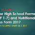 NEW Senior High School Forms (SHSF 1-7) and Nutritional Status Form