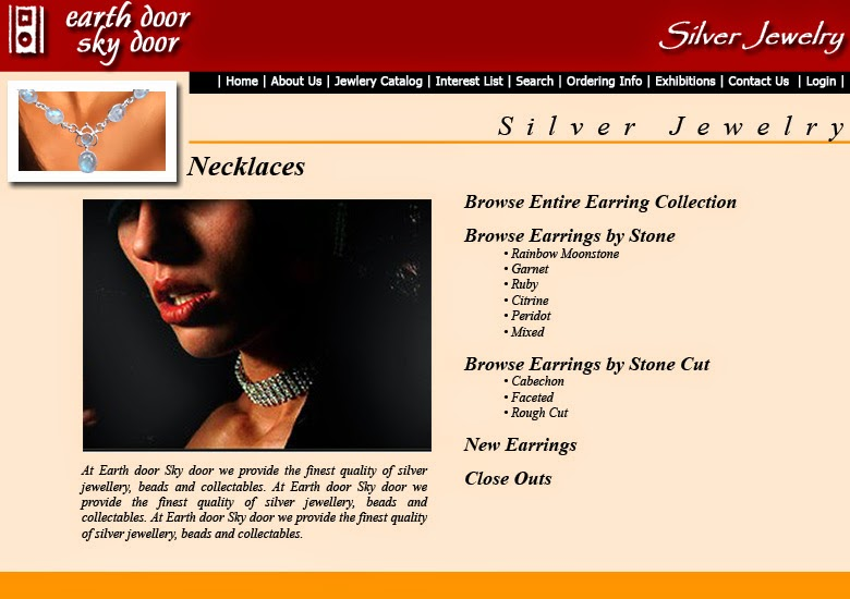online silver jewelry catalogue