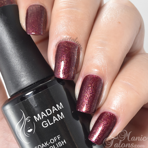Madam Glam Gel Polish Take Your Time Swatch