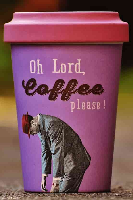 oh lord coffee please with coffee mugs