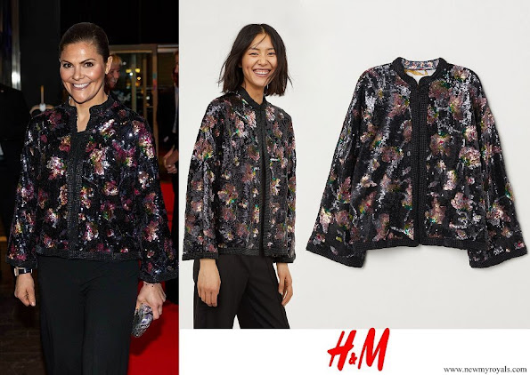 Crown Princess Victoria wore H&M Sequin-embroidered Jacket