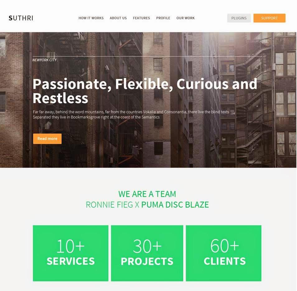 Suthri - Website PSD Template