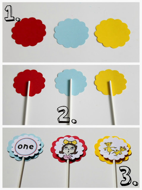 Make It Cozee Dr Suess Lollipops And Cupcake Toppers