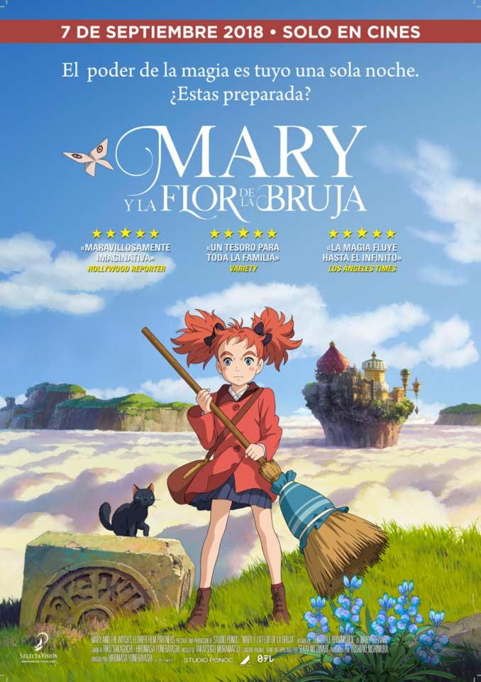 Mary y la flor de la bruja poster - Selecta Visión