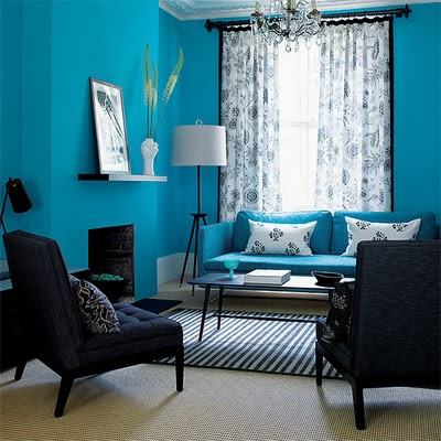 Decoracion actual de moda paredes color turquesa - Decoracion actual de moda ...