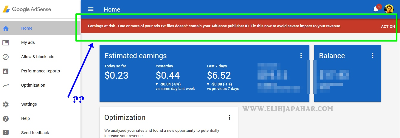 Cara Mengatasi Masalah Ads.Txt Files Missing Di Google Adsense