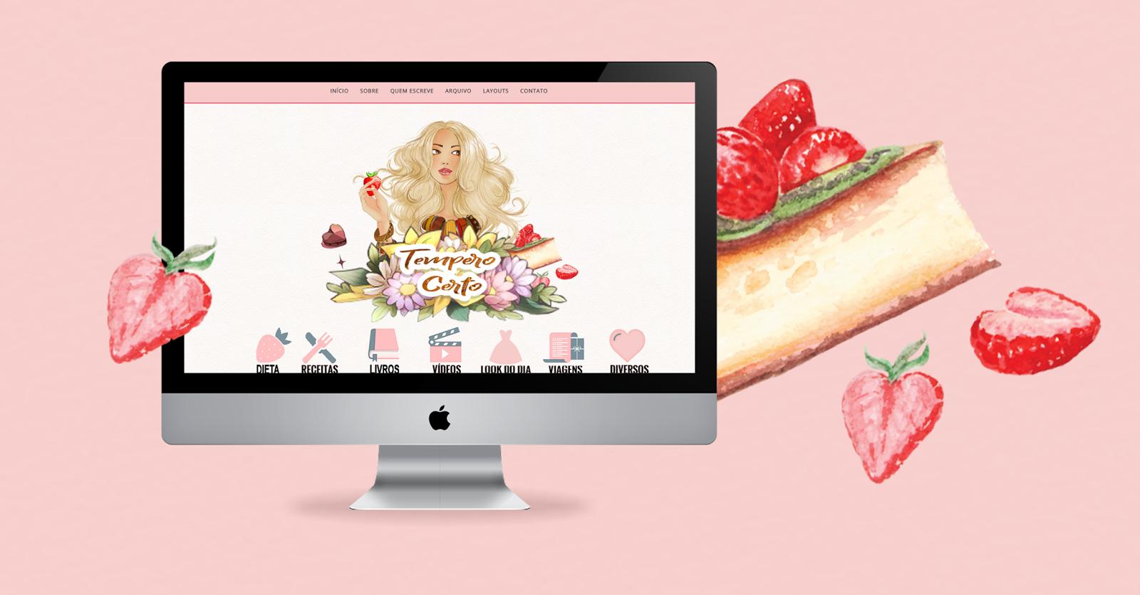 Layout free para blog de culinária