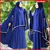 FHGS9098 Model Syari Zulfa Biru, Perempuan Pakaian Muslim Jersey BMG