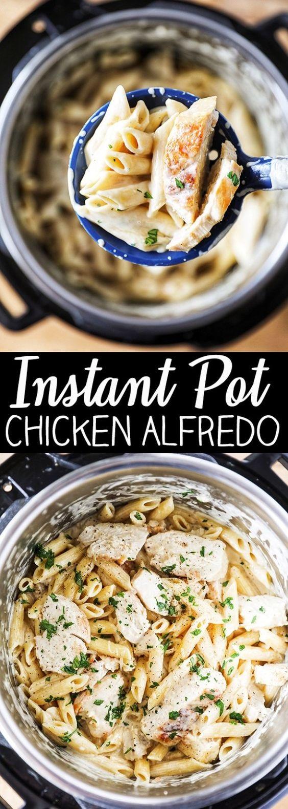 Instant Pot Chicken Alfredo Pasta