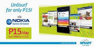 Smart exclusive UNLISURF 15 Promo for Nokia Xpress browsers