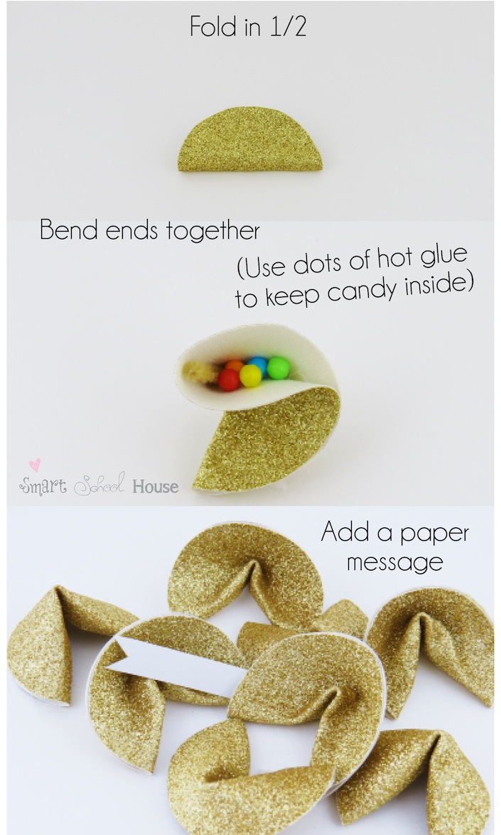 Lucky Golden Fortune Cookies #stpatricksday #rainbow www.smartschoolhouse.com