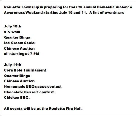 7-11/12 Domestic Violence Awareness Weekend