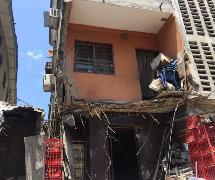 Two Storey Building Collapses In Lagos (Photos)