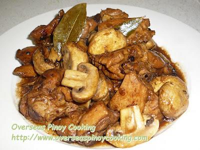 Chicken Mushroom Adobo