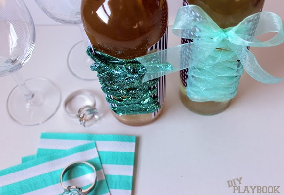 Bachelorette Party Wine Bottles - Choose your supplies to match the wedding colors!