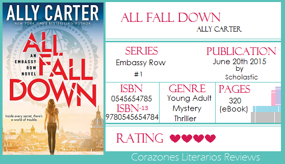 #BookReview: All Fall Down by Ally Carter